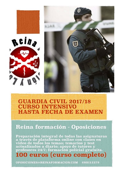 Curso Intensivo de Guardia Civil 2017/18 Hasta Fecha de Examen.
